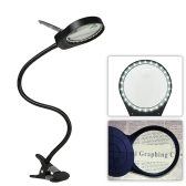 Tomshine LED 3X/10X Magnifier Glass with Clamp Clip Table Light Desk Lamp Magnifying Lens Design Illuminated Dimmable Brightness Agjustable Flexible Portable for Printing Machinery Carving