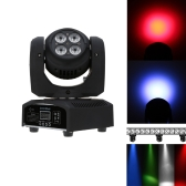 Lixada 8LED 80W RGBW 15 / 21 Channel DMX 512 Double Sides Wash Infinite Rotating Moving Head Light LED Stage Pattern Lamp for Indoor Disco KTV Club Party