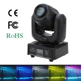 30W DMX512 Sound Control Auto Rotating 7 / 10 Channels Rainbow 7 Colors Changing Head Moving Light LED Stage Pattern Lamp for Disco KTV Club Party