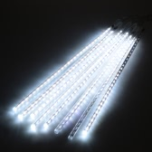 Meteor Shower Rain LED Light String AC 100-240V To DC 5V 50cm 8 Tubes Falling Snow Strip Festival Garden Tree Decorations