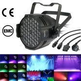 Lixada 80W 54LED DMX512 Sound Activated Auto Running 8 Channels RGBW Color Changing PAR Wall Wash Light Stage Effect Lamp for Disco KTV Club Party