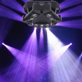Lixada 90W 9LED RGBW Full Color DMX512 Sound Control Auto Rotating 16/48 Channel Mini Triangle Spider Lamp Beam Stage Light for Disco KTV Club Party