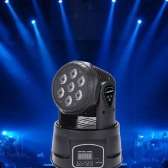 Lixada 7LED 105W RGBW 9/14 Channel DMX512 Mini Rotating Head Moving Stage Light Effect Lamp for Indoor Disco KTV Club Party