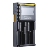NITECORE D2 Portable Handy LED Display USB Management 2 Slot Charging System Charger for 2pcs 26650/22650/18650/18490/18350/17670/17500/16340(RCR123)/14500/10440 Lithium Battery