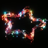 Tomshine 10M/33FT 100LEDs Starry Copper Wire String Extra Thin Bendable Flexible Multicolored Flashing Light Strip Christmas Holiday Festival Decorations EU Plug