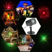 Tomshine UL GS Certificate LED Projector Lawn Lamp Light Christmas Spotlight 3 Light Color Dynamic Steady Pattern 6 Hours Auto Timing Function 180° Rotatable IP65 Water-resistant Waterproof Party Festival Decoration Home Garden Landscape Use