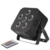 108W LED RGBWAP 6/10 Channel PAR Light Build-in Wireless DMX Receiver Rechargeable Battery Stage Lamp with Remote Controller Support Sound Activation for DJ Bar KTV Party DMX Receiver