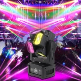 Tomshine 120W 8LED Double Wheel RGBW Full Color Head Moving Lamp DMX512 Sound Control Auto Rotating 10/21 Channel LED Beam Stage Light for Disco KTV Club Party