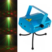 12 Patterns LED Projector Light Mini Strobe Flash Stage Effect Light Voice-activated for Club Disco Party Celebration and Christmas Festival Lighting