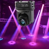 60W RGBW 11/16 Channel 12 Gobo Pattern Head Moving Lamp LED Beam Effect Stage Light DMX512 Sound Control Auto Rotating for Disco KTV Club Party