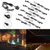 10PCS 30mm LED Deck Lights 6W 500LM SMD2835 Small Recessed In-ground Underground IP67 Waterproof Spotlight Outdoor Landscape Garden Patio Pathway Floors Stairs Decorations