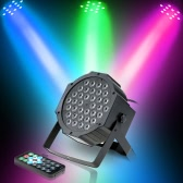 36LED 36W 7Channel Remote Control Mini High Bright PAR Light RGB Wash Effect Stage Lamp Support DMX512 Sound Activation for Wedding Party DJ Bar Club
