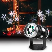 4W 4LED Speed Adjustable Sound Activated Dynamic Moving Snowflake Film Projector Light Pattern Decoration Lamp Spotlight for Christmas Xmas Party Wedding