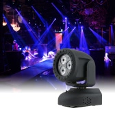 15W Mini 3 LEDs RGBW 4 in 1 Beam Moving Head Light Wash Effect Stage Lamp Support Sound Activation with USB Flash Disk and TF Card Port AUTO Run IR Remote Control for Indoor KTV Party Club Disco Pub Bar Banquet School Show