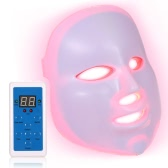 7 Colors 5 Levels Dimmable Timing PDT Facial Skin Care Light LED Home Use Daily Photon Beauty Therapy Mask Lamp with Controller Anti-aging Acne Wrinkle Elimination Rejuvenation