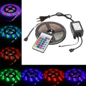 5M 270 LEDs 2835 SMD Remote Control LED Strip Light RGB Color Changing 5 Modes 4 Adjustable Brightness Background Ribbon Tape Decoration Lamp