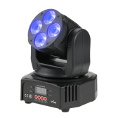 Tomshine 60W 4 LED RGBW+Amber+UV 6-IN-1 Washing Effect Moving Head Stage Light AC90-240V 16/18 Channels Support Sound Activation Auto DMX512 Master-Slave Mode for Party KTV Pub Bar School Show Wedding Ceremony