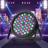 70W 54LED RGBW Plastic Flat Stage Par Light DMX512 Sound Auto Master-slave 8 Channels for Bar Club Disco DJ Party