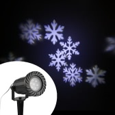 Waterproof Projector Light Automatically LED Moving Snowflakes Spotlight Lamp Wall and Tree Christmas Holiday Garden Landscape Decorative Light