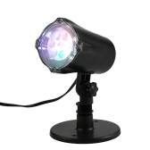 4 luces del proyector del LED que mueven la lámpara del copo de nieve Proyector dinámico del césped del paisaje que gira la luz