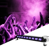 27W High Brightness Black Light UV Purple LED Bar with 9LED*3W Gig Party Flourscent Halloween Christmas Decorations in Metal Housing