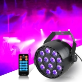 12 LED Par Stage Light 20W DMX 512 Dream Color Light for Club DJ Show Home Party Ballroom Bands UV
