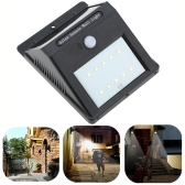 Rechargeable 1W 200LM 10 LEDs Solar Power Wireless  Lamp PIR Motion Light Sensor Wall Mount for Garden Wall Roof Yard Pathways Stairway Outdoor Use