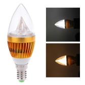 AC110V 6W E14 LED Candle Bulb Light Golden Dimmable Chandelier Lamp Practical Decorative Energy-saving Home Lighting Fixture White