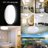 LED 15W IP44 Ceiling Light Round 8 Inch 3000K/4000K 1200LM 50W Equivalent Warm White/ Natural White for Bedroom Living Room Kitchen Bathroom Corridor etc [Energy Class A+]