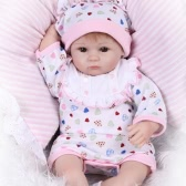 Reborn Baby Doll Girl Baby Bath Toy Silicone Body Eyes Open With Clothes 16inch 40cm Lifelike Cute Gifts Toy Girl