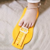 Child Baby Infant Foot Gauge Shoe Size Ruler Measure Tool Calculator Device Kit Yellow