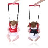 Dual Baby Walker Helper Toddler Handheld Walking Harness Protective Adjustable Walk Learning Belt Assistant Cotton Red