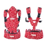 Baby Child Carrier With Hip Seat 3 in 1 Backpacks Front Packs Kangaroo Packs Breathable Light-weight Waist Stool   For Infant Baby Toddler 3 Months-36 Months Red
