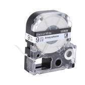 Black on White Label Tape 9mm * 8m Compatible for Kingjim Epson Label Printer LW400/LW600/SR230C/SR230CH/SR530C/SR550C