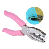 Hand-held 1-Hole Metal Paper Punch Single Heart Shape Hole for Greeting Cards Scrapbook Notbook Puncher Hand Tool with Pink Grip