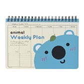 Cute Animal Coil Weekly Planner Plan Agenda Schedule Travel Journal Diary Notepad Notebook Panda