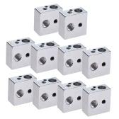 10pcs Aluminum Heater Block All-Metal 20 * 20 * 10mm for MK7 MK8 Extruder RepRap Prusa i3 DIY 3D Printer Hot End