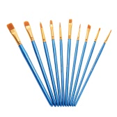 10pcs/pack Artist Paint Brush Kit Set Nylon Hair Round Point Tip for Acrylic Aquarelle Watercolor Oil Painting