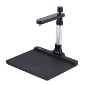 Adjustable HD High Speed USB Book Image Document Camera Scanner Dual Lens (10 Mega-pixel & 2 Mega-pixel) Max. A3 Scanning Size with OCR Function LED Light for Classroom Office Library Bank