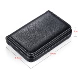 High-quality Pocket Size Synthetic PU Leather Business Name Card Holder Case Box Wallet