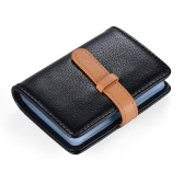 Stylish Synthetic PU Leather Business Bank ID Name Credit Card Holder Case Bag Wallet with 26 Card slots