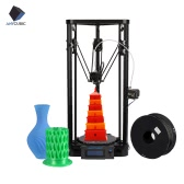 Anycubic Kossel Pulley Delta Desktop FDM Metal 3D Printer DIY Kit Support Auto Leveling Large Printing Size 180 * 320mm Fast Speed High Accuracy LCD   Display Including 1kg/2.2Lbs Black PLA Filament