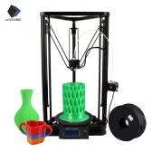 Anycubic Kossel  Linear Plus 3D Printer DIY Kit Support Auto Leveling  Large Printing Size 230 * 300mm Fast Speed High Accuracy LCD Display Including 1kg/2.2Lbs   Black PLA Filament