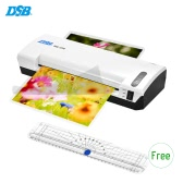 DSB HQ-236 A4 Photo Hot Cold Laminator Free Paper Trimmer Cutter 1.5-2min Warm Up 400mm/min Fast Speed for 80-125mic Film Laminating with Jam Release EU Plug