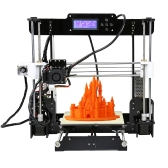 High Precision Desktop 3D Printer Kits Reprap Prusa i3 DIY Self Assembly MK8 Extruder Nozzle Acrylic Frame LCD Screen with 8GB SD Card Printing Size 220*220*240mm Support ABS/PLA/HIP/PP/Wood Filament