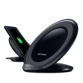 Qi Fast Charge Wireless Charger Charging Pad Stand Built-in Dual Coils for iPhone 8 iPhone X Samsung Galaxy S8/S8+/S7/S7 Edge/S6 Edge and Other Qi-enabled Smartphones