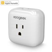 Koogeek Home Smart Plug Siri Control Wi-Fi Enabled with Apple HomeKit Technology -US Plug White