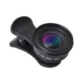 HD 0.6X Wide Angle Lens High Definition 120° No Distortion External Clip-on Cell Phone Camera Lens for Most Smartphones