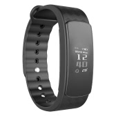 i3 HR Smart Band 0.96inch OLED HD Touch Screen 128*64px Sports Band Heart Rate Sleep Monitor Activities Tracking Call Notification Read on Screen Wristband 75mAh Long-standby Battery Bluetooth 4.0 IP67 Waterproof TPU Intelligent Sports Bracelet for iPhone iOS Android