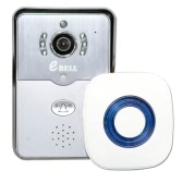 EBELL ATZ-DBV01P-433MHZ Smart Door Bell with Wireless Indoor Reminding Device 433MHz Indoor Chime 720P Full Duplex Audio HD   Remote-control Home Security PIR Motion Detection Smart IP WiFi Video Doorbell Support 64GB TF Card for iPhone SE Android 4.0 IOS 7.0   or Above